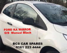 FORD KA  DOOR MIRROR  DRIVERS SIDE   MANUAL  BLACK    USED    2010 - 2011 - 2012